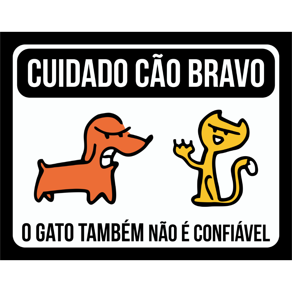 Placa Cao Bravo